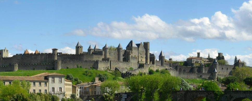 The city of Carcassonne